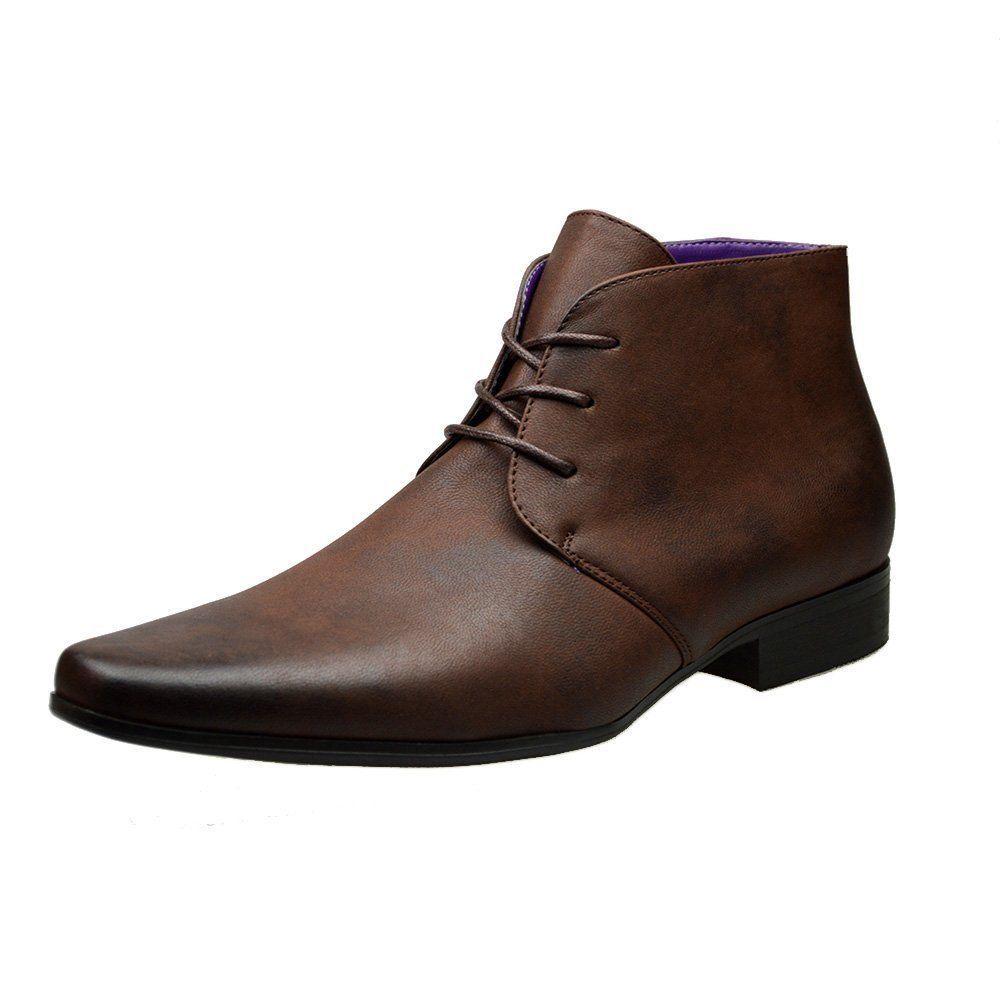 Mens Dark Brown Leather Smart Formal