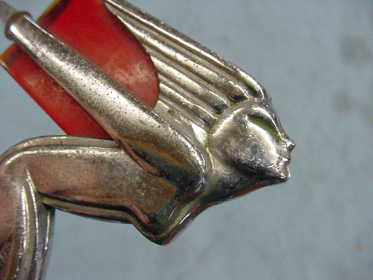 Vtg Art Deco Winged Hood Ornament 1934 1935 1936 Hudson Terraplane