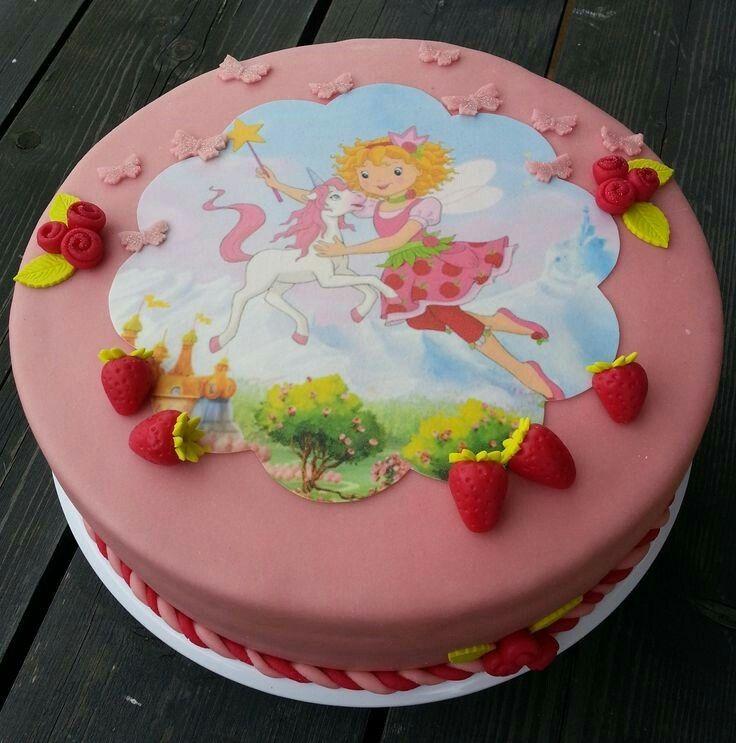 Lillifee Torte Mit Tortenaufleger Und Erdbeeren Maggies Welt In