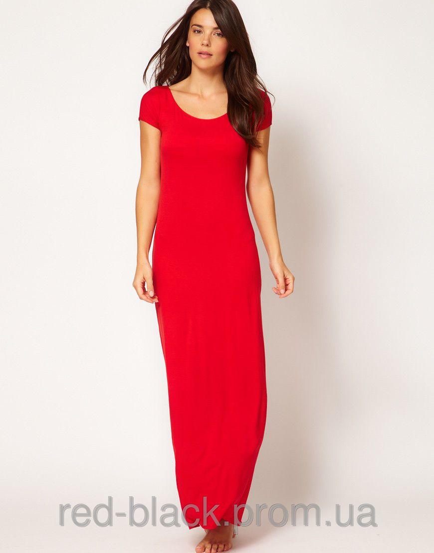 Платье футболка красное