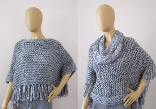 2014 Fashion Knitted Poncho,Poncho Sweater Patterns Crochet Knit ...