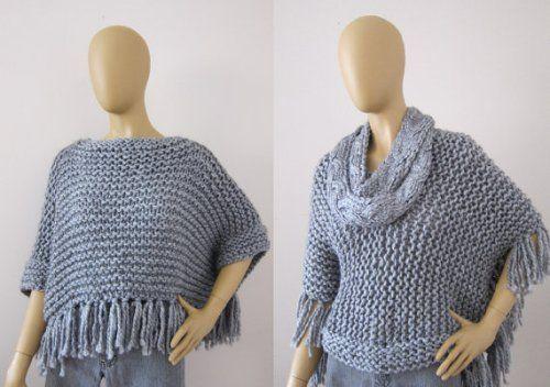 2014 Fashion Knitted Poncho,Poncho Sweater Patterns Crochet Knit ...