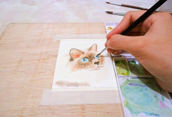 Como Pintar Un Gato Con Acuarelas Fácil Acuarela Fácil Como Pintar Pintar