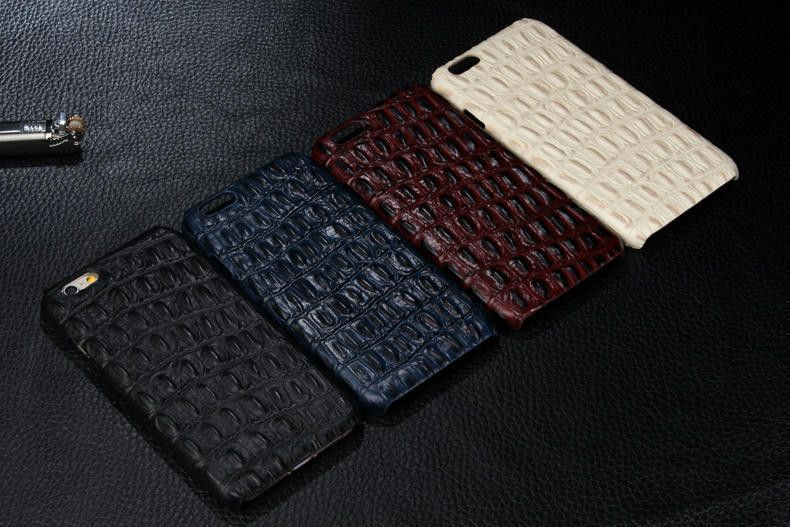 Genuine Leather Case With Alligator Skin Design For iPhone 6 Plus