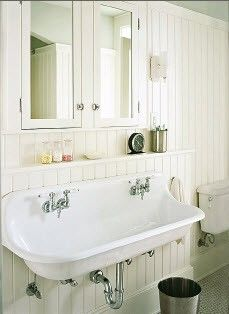 Trough Sink Cast Iron Wall Mount Double Faucet Vintage Sink Kohler Brockway Sink Bathroom Inspiration