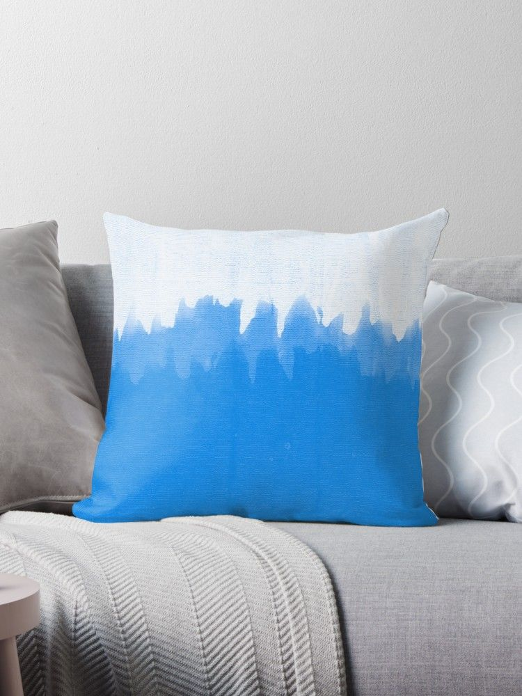 Light Blue Smear' Floor Pillow by Aaron Kinzer   Print on Demand