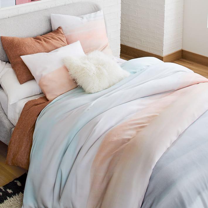 Tencel Sunrise Duvet Cover Shams In 2020 Duvet Covers Modern