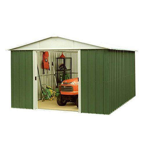 10x13 Yardmaster Metal Shed No Windows Sliding Doors Steel Garden