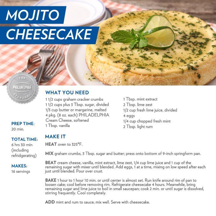 Mojito Cheesecake - #recipe #dessert