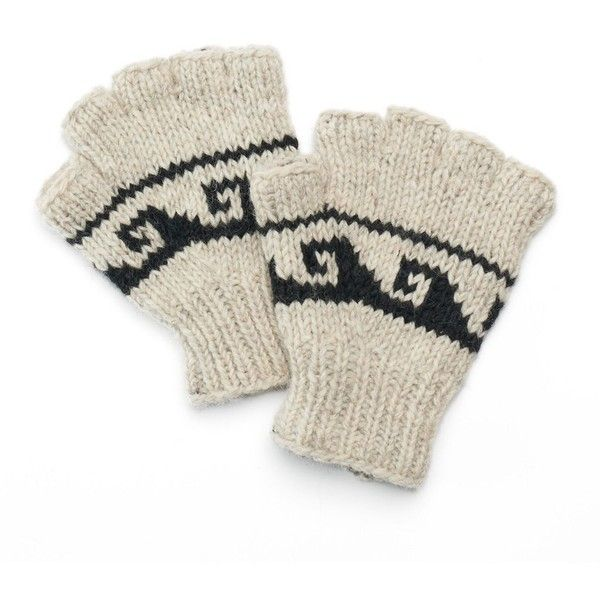 Sijjl Women s Snowflake Wool Fingerless Gloves ( 25) ❤ liked on Polyvore  featuring accessories 0442a1f7019e