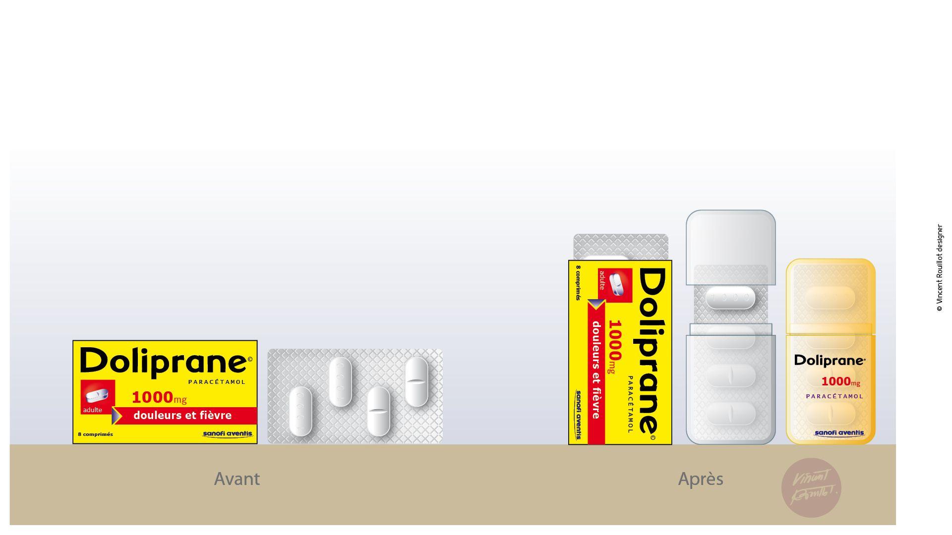 Design Packaging - designer Vincent Rouillot  Projet Sanofi Avantis Relookage des packs carton en boitier nomade. A glisser dans la poche, plus pratique, objet du quotidien qui se montre… translucide pour savoir combien il en reste. A la verticale pour mieux tenir dans la poche.
