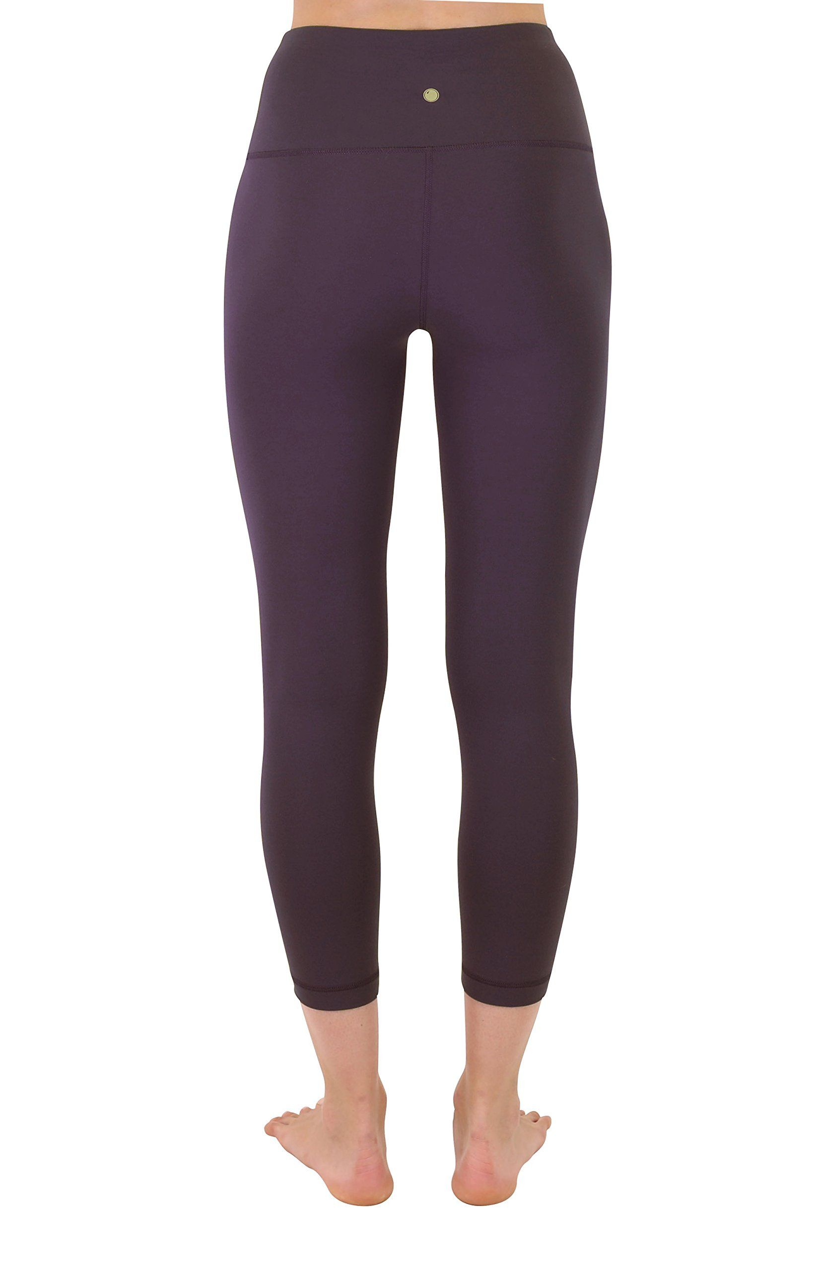 dbcc7ee512 Yogalicious High Waist Ultra Soft Lightweight Capris  High Rise Yoga Pants  Fig Sugar Large -- Check out the image by visiting the link.