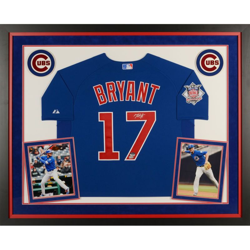 Kris Bryant Chicago Cubs Fanatics Authentic Deluxe Framed Autographed Blue  Authentic Jersey 2fa37f248