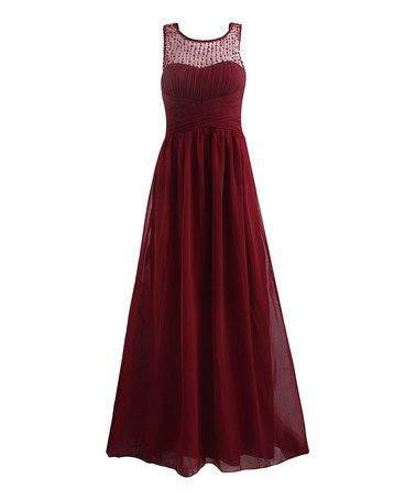 9e2f26c9f0de Another great find on #zulily! Wine Diana Gown #zulilyfinds | my ...