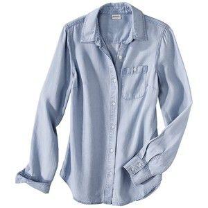 Merona Women's Chambray Button Down Shirt -Light Wash | I want ...