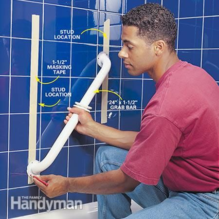 Shower Grab Bars For The Elderly how to install bathroom grab bars | grab bars, bar and bath