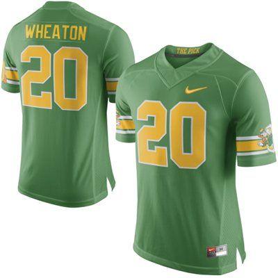 Men S Kenny Wheaton Oregon Ducks Nike Green Yellow 1994 The Pick 20th Anniversary No 20 Limited Jersey Oregon Ducks Nike Jersey Jersey