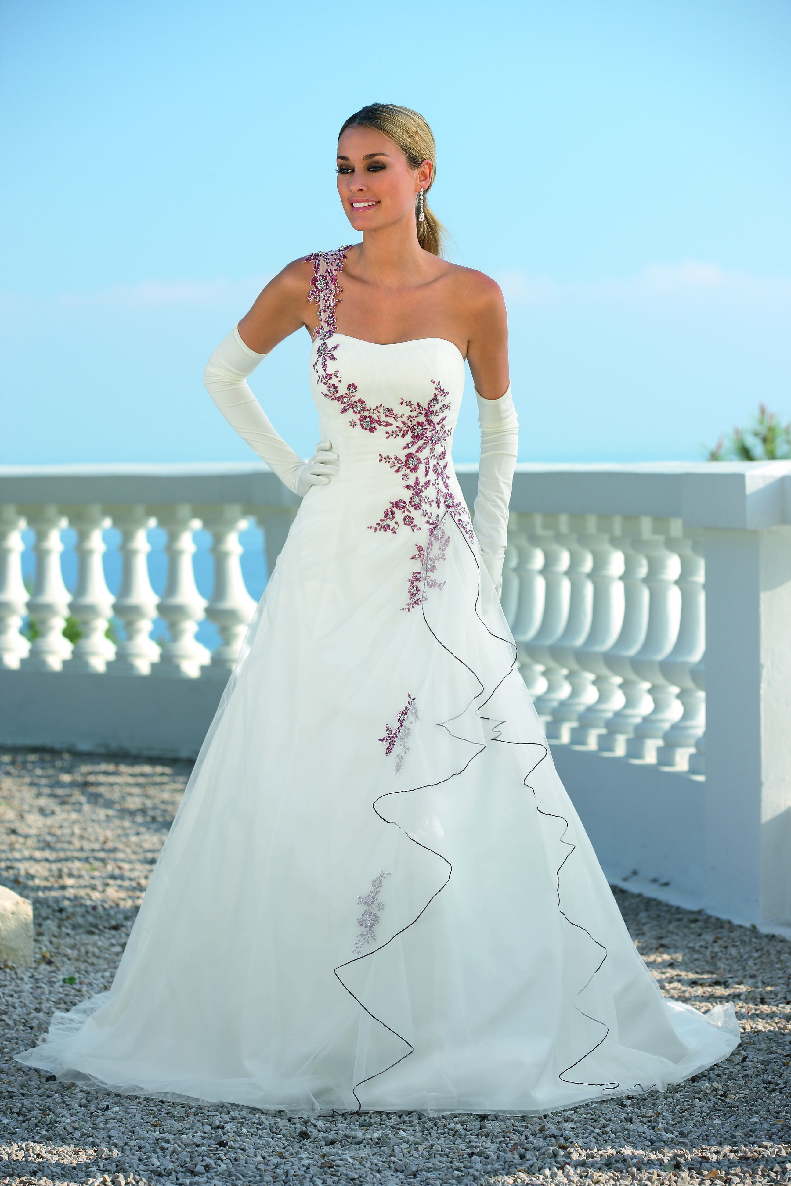 Ladybird Wedding Dress Style 33056 Ivory-Burgundy-Silver | Bridal ...