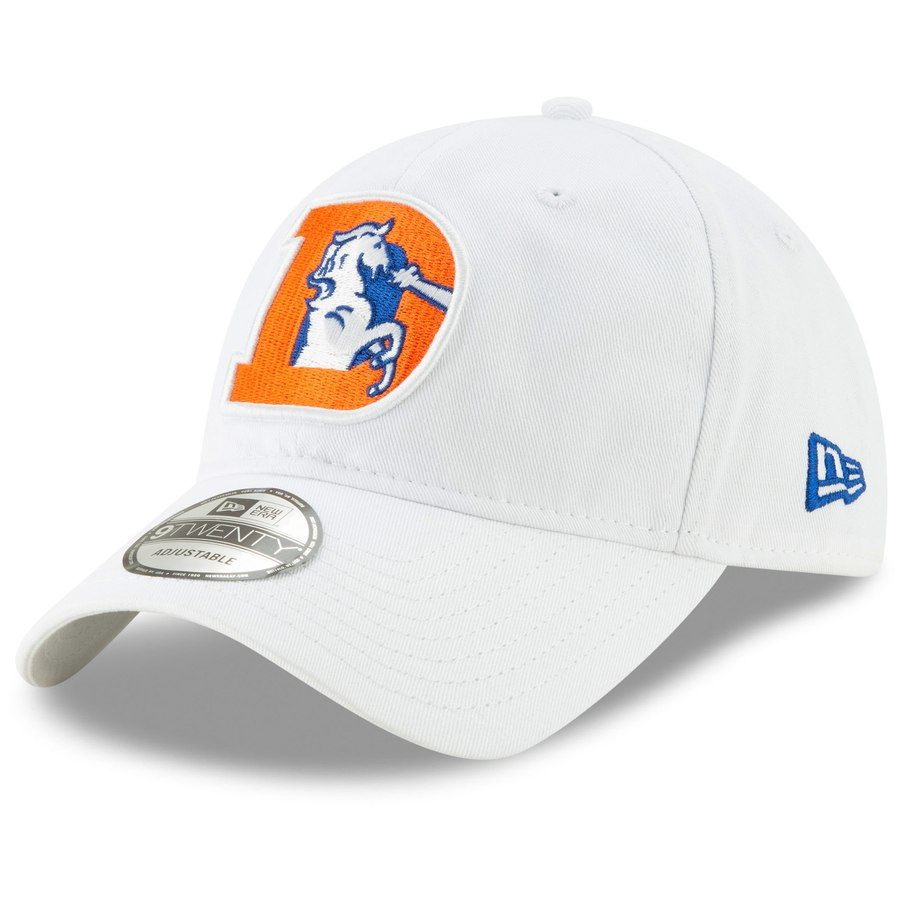 new york eff26 6255a Men s Denver Broncos New Era White Core Classic White 9TWENTY Adjustable Hat,  Your Price
