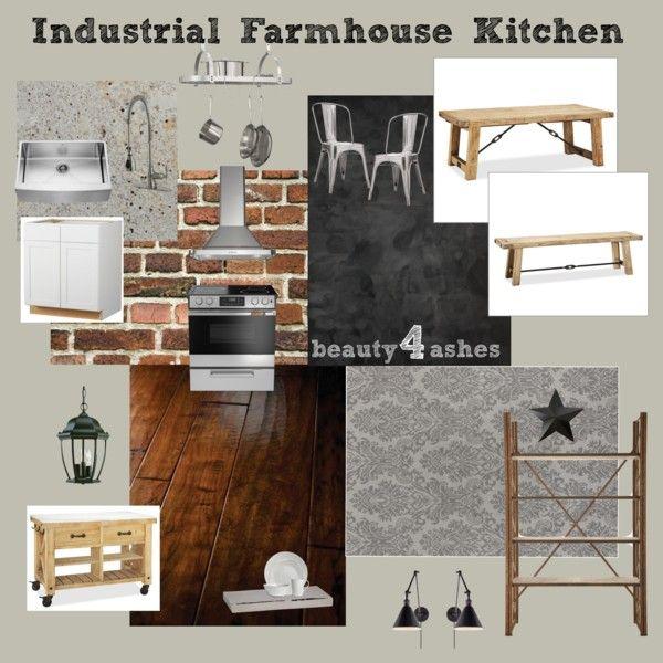Industrial Farmhouse Kitchen Moodboard Moodboards Pinterest Industrial Farmhouse Kitchen
