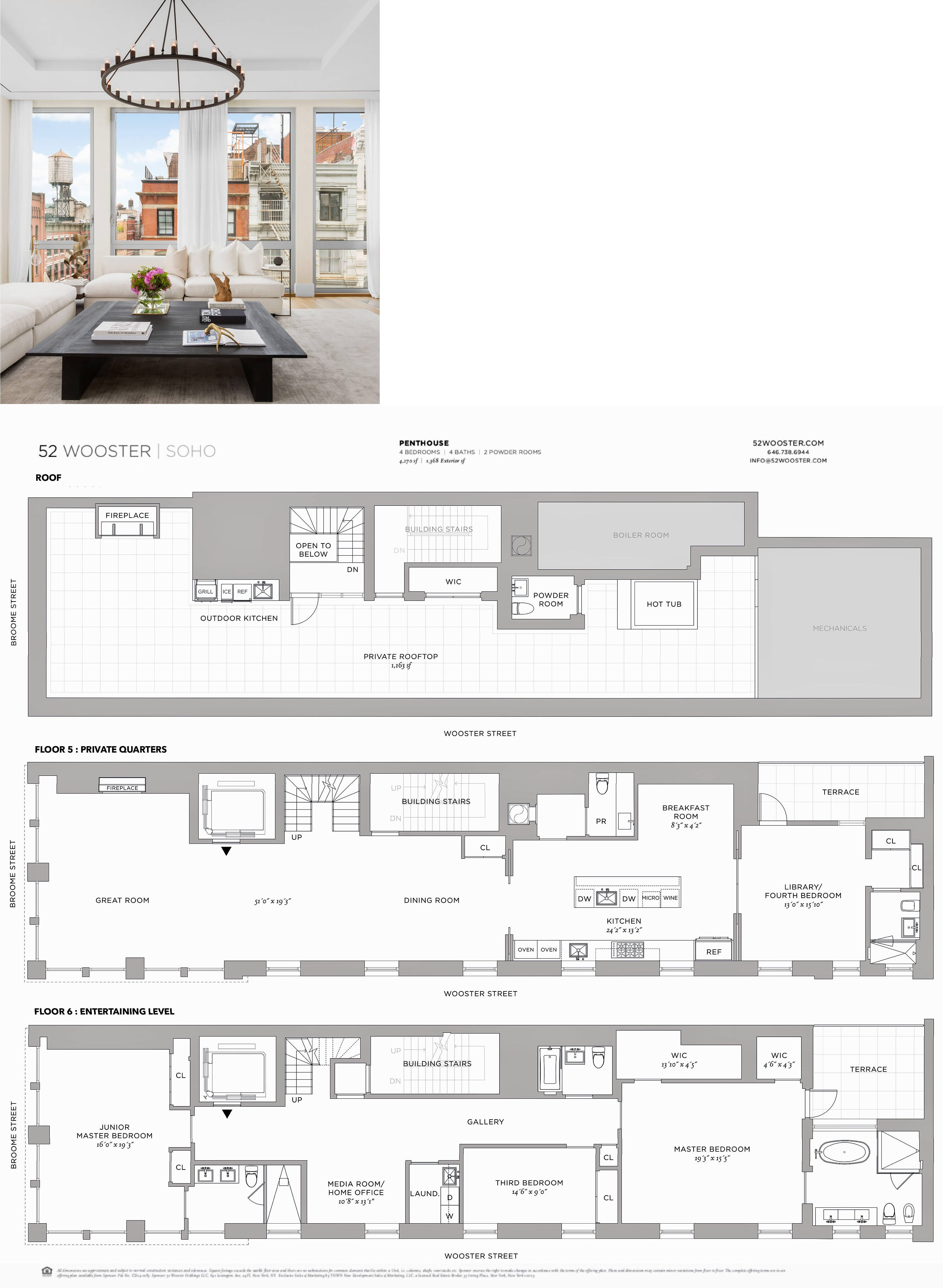 52 Wooster Soho Penthouse Sims House Plans Townhouse Designs House Plans