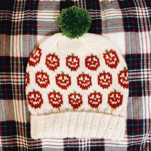 Fair Isle Pom Pom Ski Hat // The Pumpkin Patch // fisherman ...