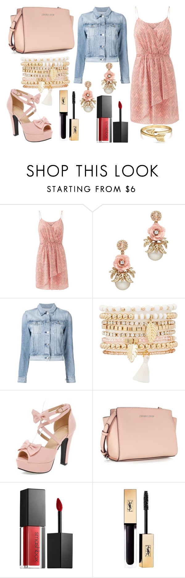 """""""#263"""" by glitterunicorns-are-awesome ❤ liked on Polyvore featuring Rebecca Taylor, 3x1, Charlotte Russe, Michael Kors, Smashbox, Yves Saint Laurent and Bling Jewelry"""