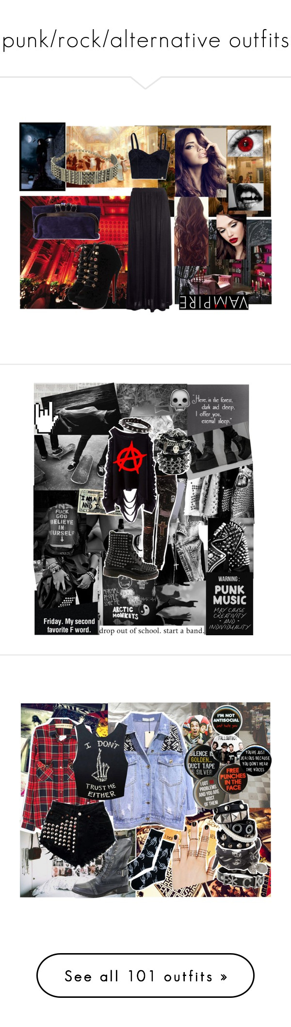 """punk/rock/alternative outfits"" by xkitten-pokerx ❤ liked on Polyvore featuring Masquerade, H&M, Hollister Co., Neon Hart, B. Ella, women's clothing, women, female, woman and misses"