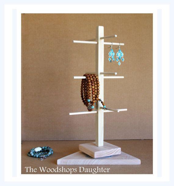 Jewelry Holder with Triangle Base Rotating Bracelet Holder