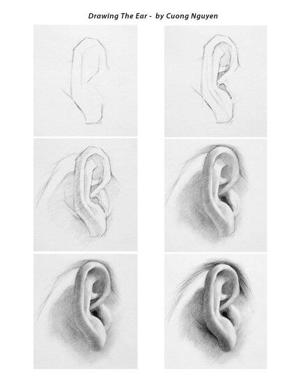 Never Forget About The Ears They Are Not Easy To Learn Cuong Nguyen Realistic Drawings Drawing People Drawings