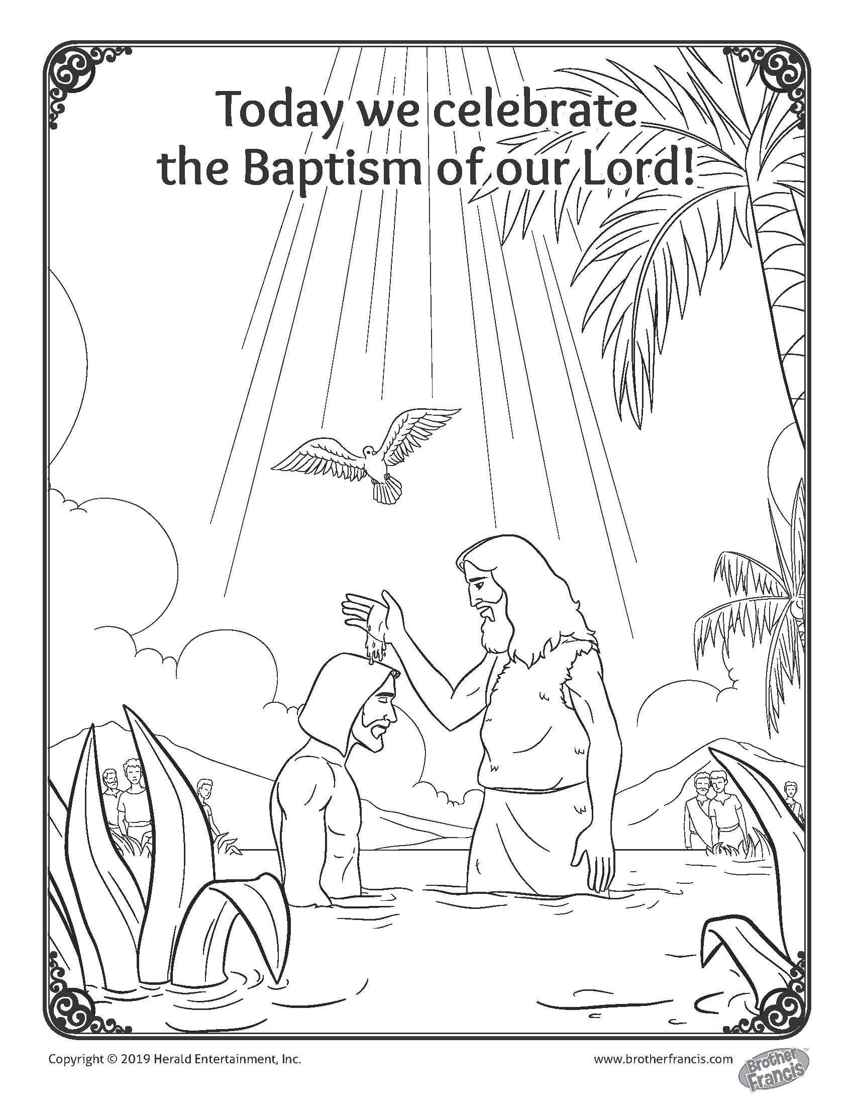 Baptism Of Our Lord Coloring Page Coloring Pages Free Coloring Pages Catholic Coloring