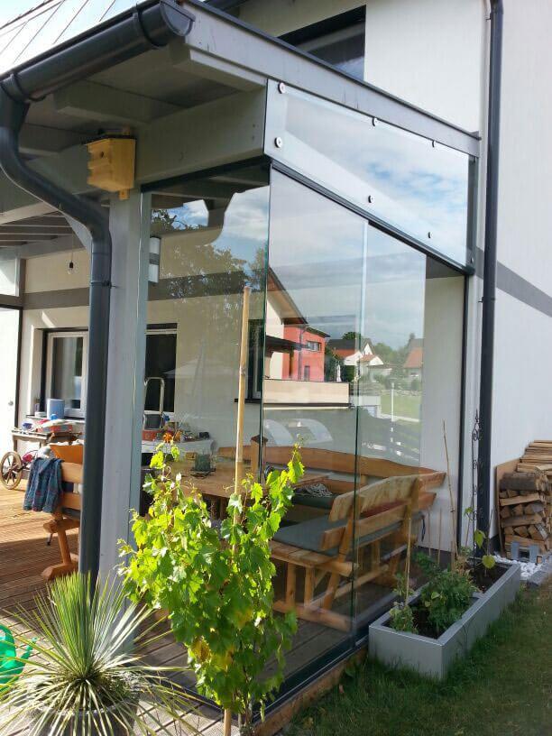 Windschutz Aus Glas Für Terrasse In 2020 Windschutz