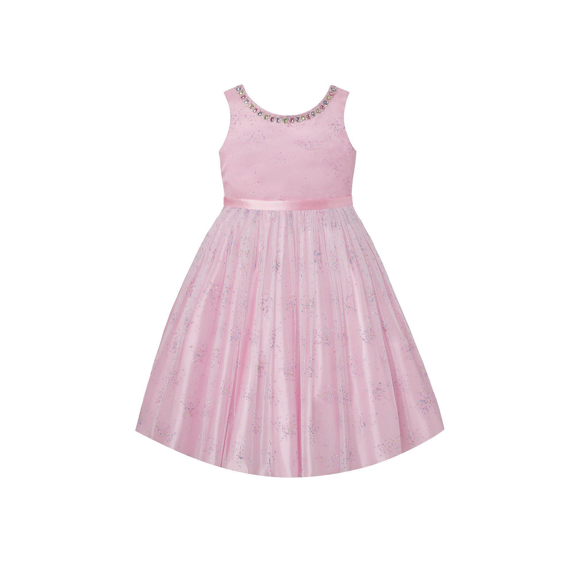 Girls Plus Size American Princess Rhinestone Embellished Dress ...