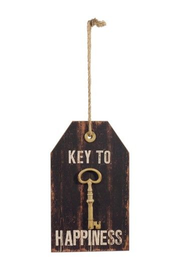 Vip International Key To Happiness Wood Sign Hautelook Key Crafts Key To Happiness Wall Signs