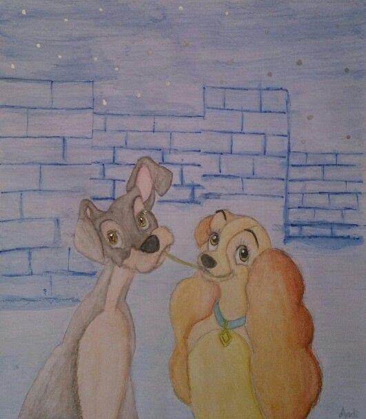 La dama y el vagabundo, lady and the tramp, disney, drawing, dibujo ...
