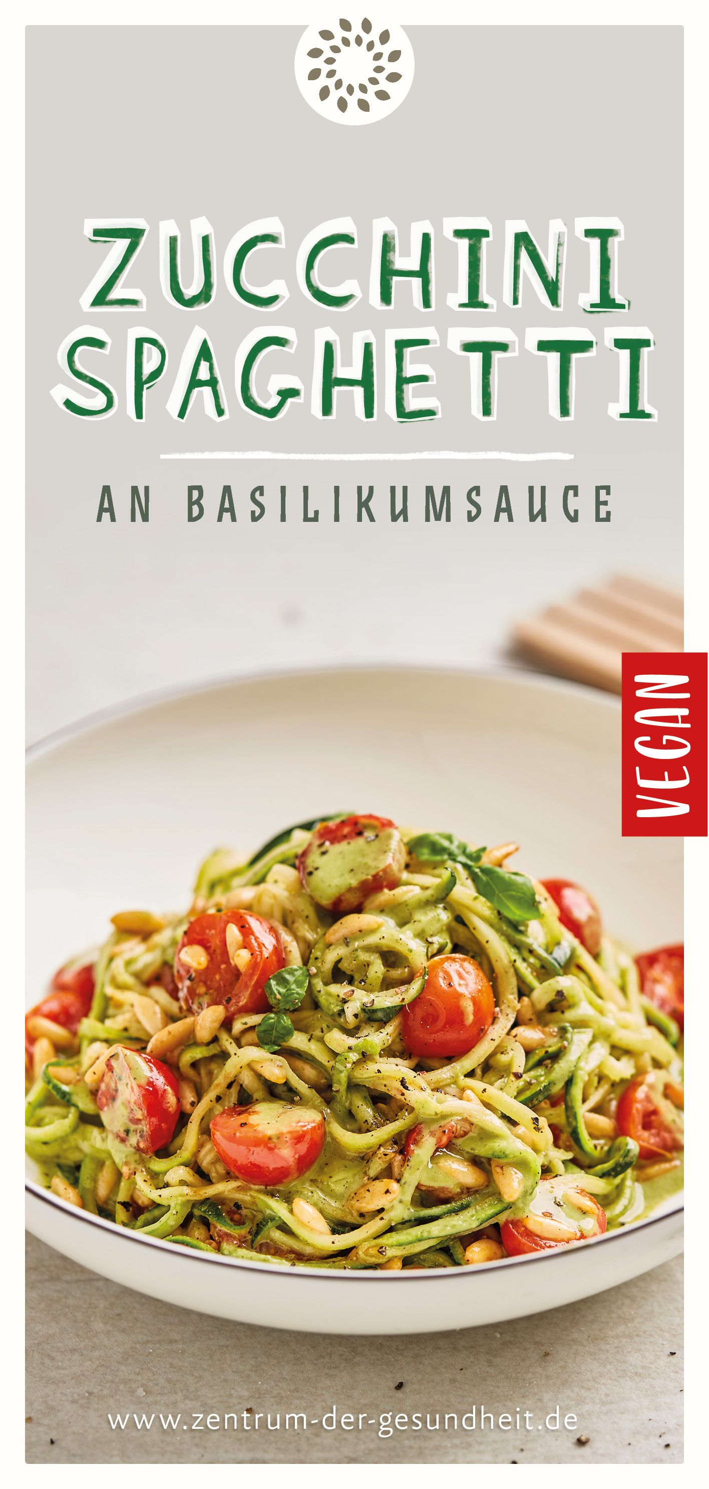 Photo of Courgette spaghetti with basil sauce