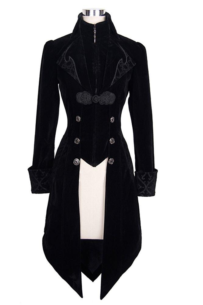 Gothic Maelstrom Velvet Jacket - Schwarz | Modestil ...
