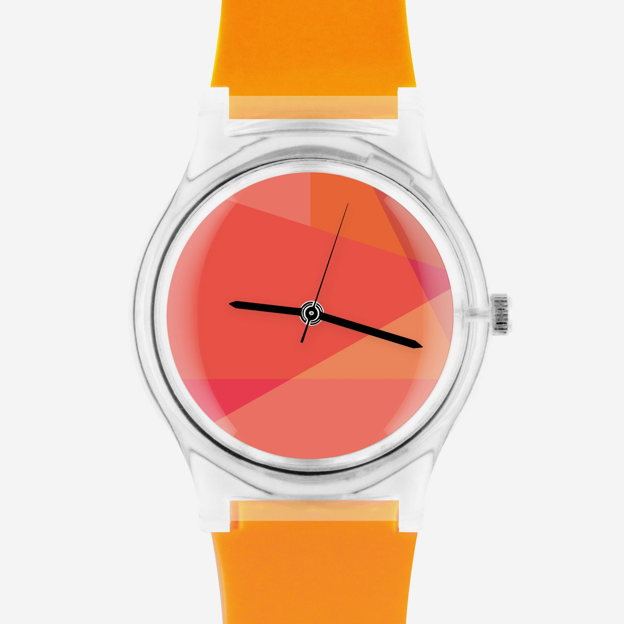 """May28th is an accessories brand dedicated to creating fun, affordable watches for men and women. May28th's distinctive aesthetic combines unexpected uses of pattern, texture and color. These eye-catching timepieces offer a vibrant, graphic pop to your everyday style.  Material: Plastic  Size: watch face (1.2"""" / 3 cm); band (9.5"""" / 23 cm) Battery Included Water resistant"""