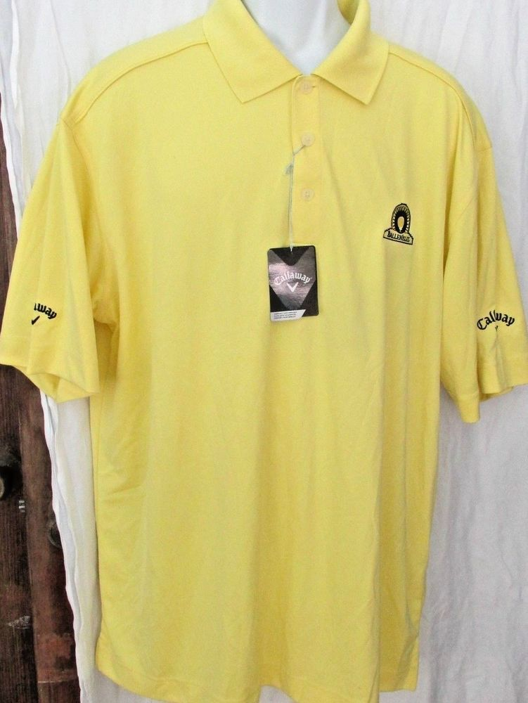 NEW NWT MENS CALLAWAY BALLEN ISLES PALM BEACH GARDENS GOLF CLUB YELLOW POLO  XXL #Callaway #PoloRugby