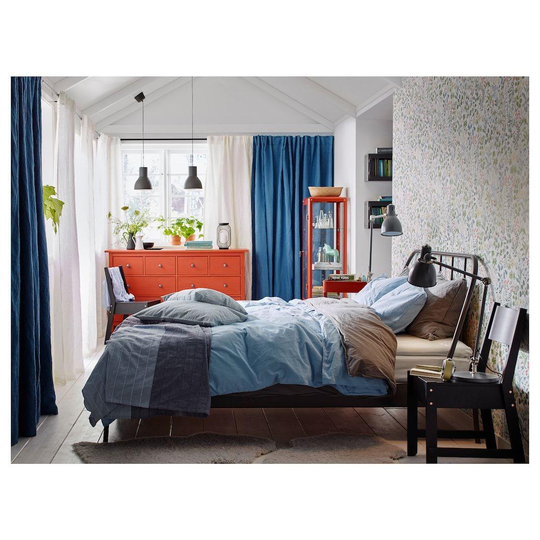 ÄNGSLILJA Duvet cover and pillowcase(s), gray, Full/Queen