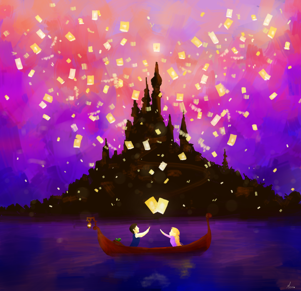Oh My God So Pretty In 2020 Tangled Lanterns Scene Tangled Painting Disney Canvas