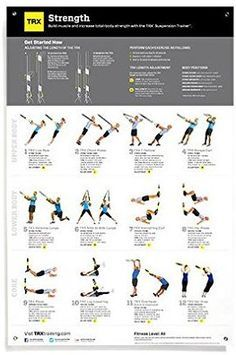 amazon trx training  all body strength poster all