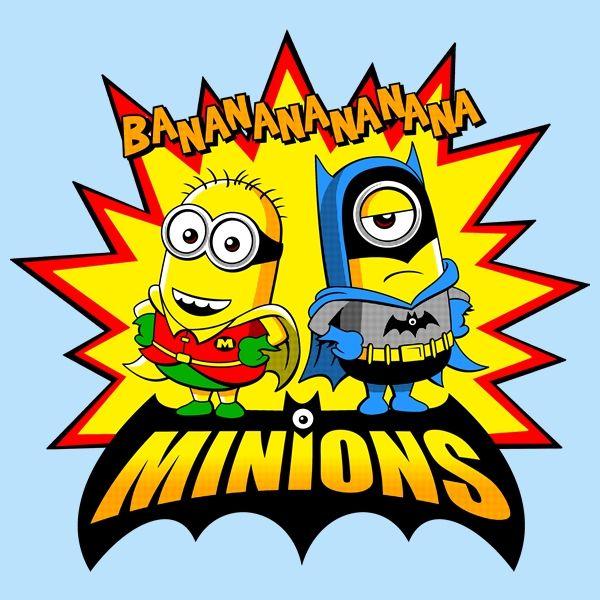 Minion Batman T-shirt Alternative marvel Avengers Banana Super hero Bat Minion