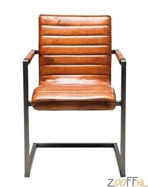 Leren Design Relaxstoelen.Kare Design Cantilever Riffle Buffalo Stoel Mooie Relaxstoel