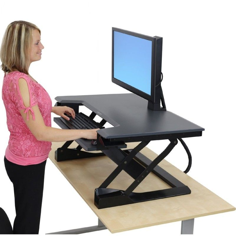 Do You Want A Standing Desk But Don T To Give Up Your Sitting The Ergotron Workfit Sit Stand Desktop Workstation Is Perfect Solution