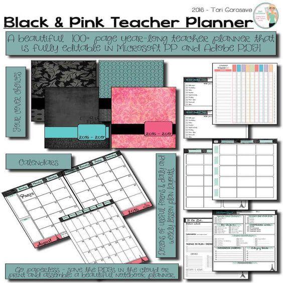 EDITABLE Teacher Binder: Spring In Paris {Google Drive ...