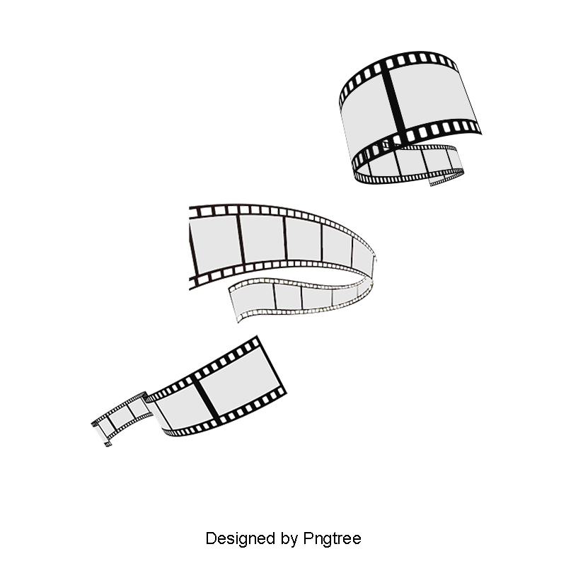 Stereoscopic Movie Film Rolled Poster Vector Material Film Clipart Film Clips Footage Png Transparent Clipart Image And Psd File For Free Download Film Roll Clip Art Rolled Poster