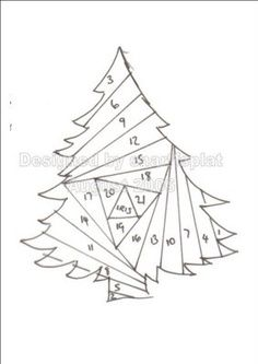 Christmas Tree Iris Folding Pattern Iris Folding Templates Iris Paper Folding