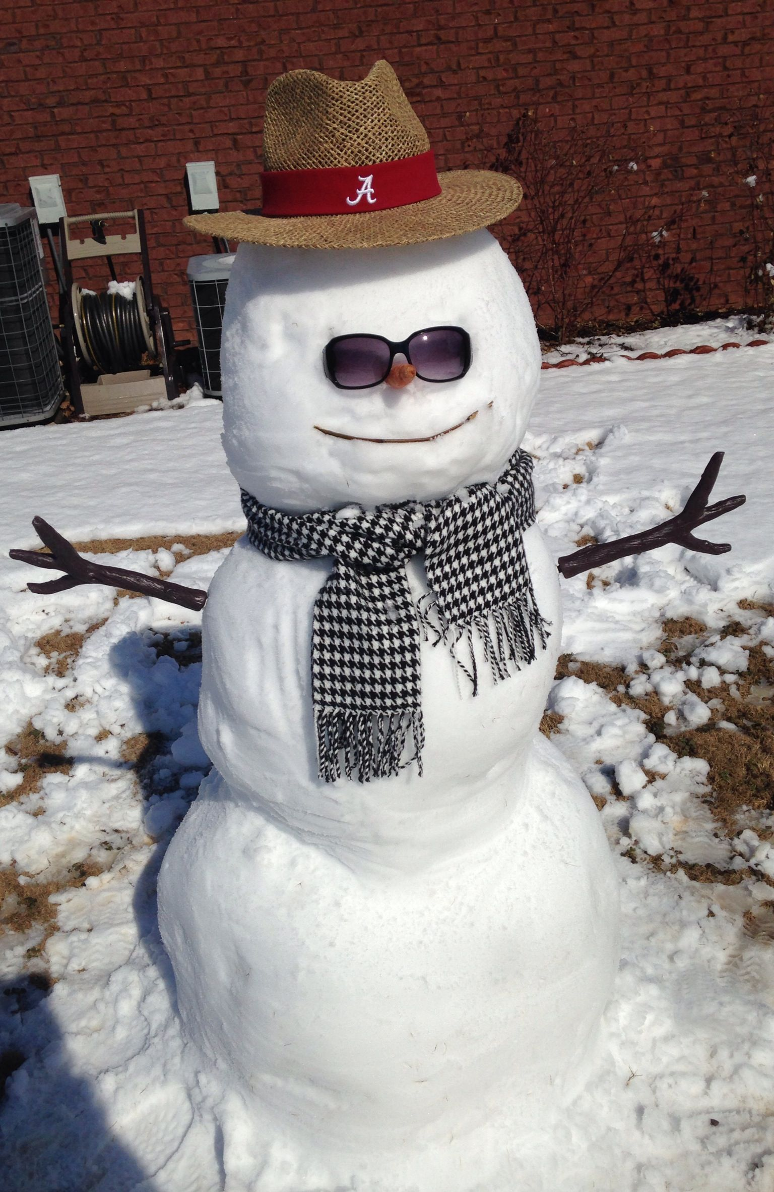 ROLL TIDE SNOWMAN!! Alabama football roll tide, Alabama