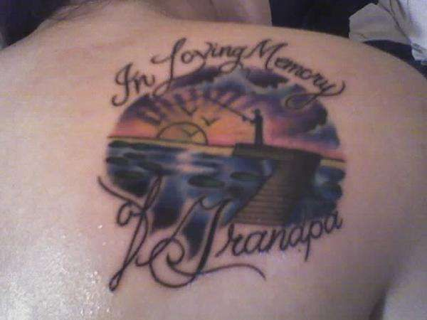 In Memory Of My Daddy Tattoo Fishing In Loving Memory Of Grandpa